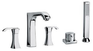 Picture of   11109 Five hole roman tub filler with diverter and handshower