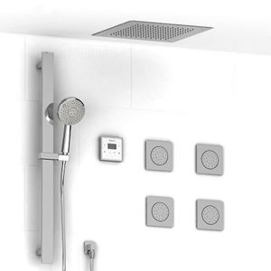 """Picture of   ¾"""" electronic system with hand shower rail, 4 body jets and shower head"""